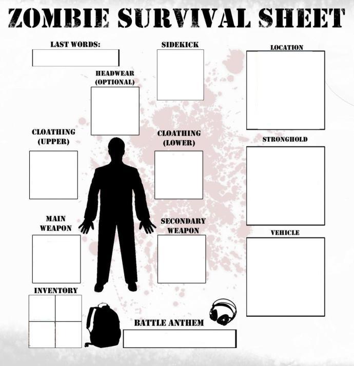 Zombie Survival Sheet