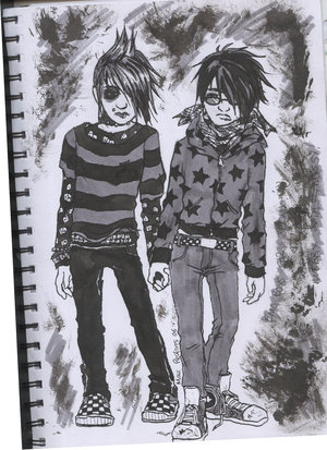 emo guys cartoon pictures. Emo Love